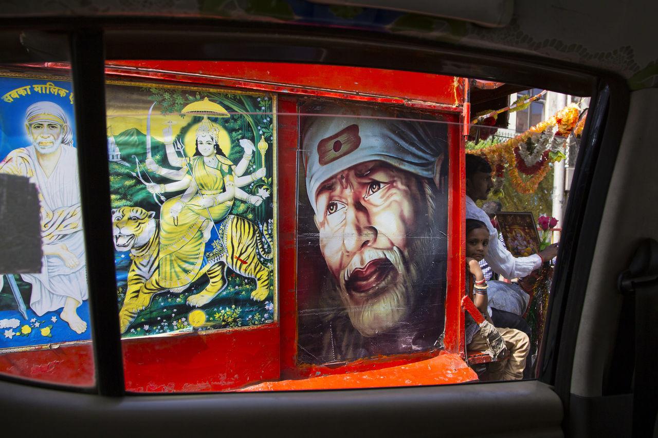 Car Window Day Hindu Hinduism Human Representation Icon India Mumbai Religion Travel Travel Photography Window