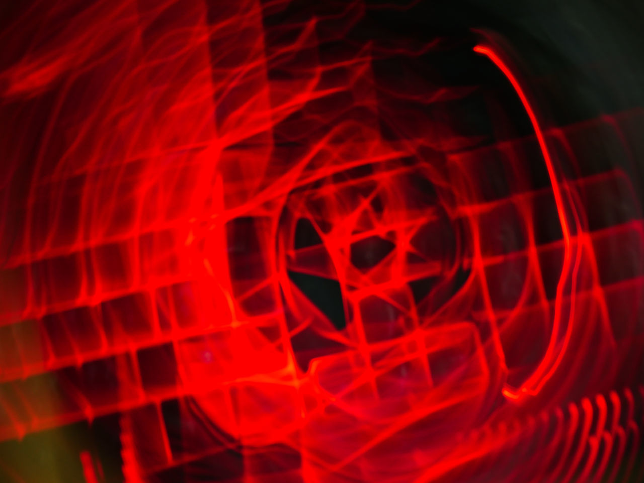 red, abstract, danger, defocused, close-up, black background, no people, illuminated, night