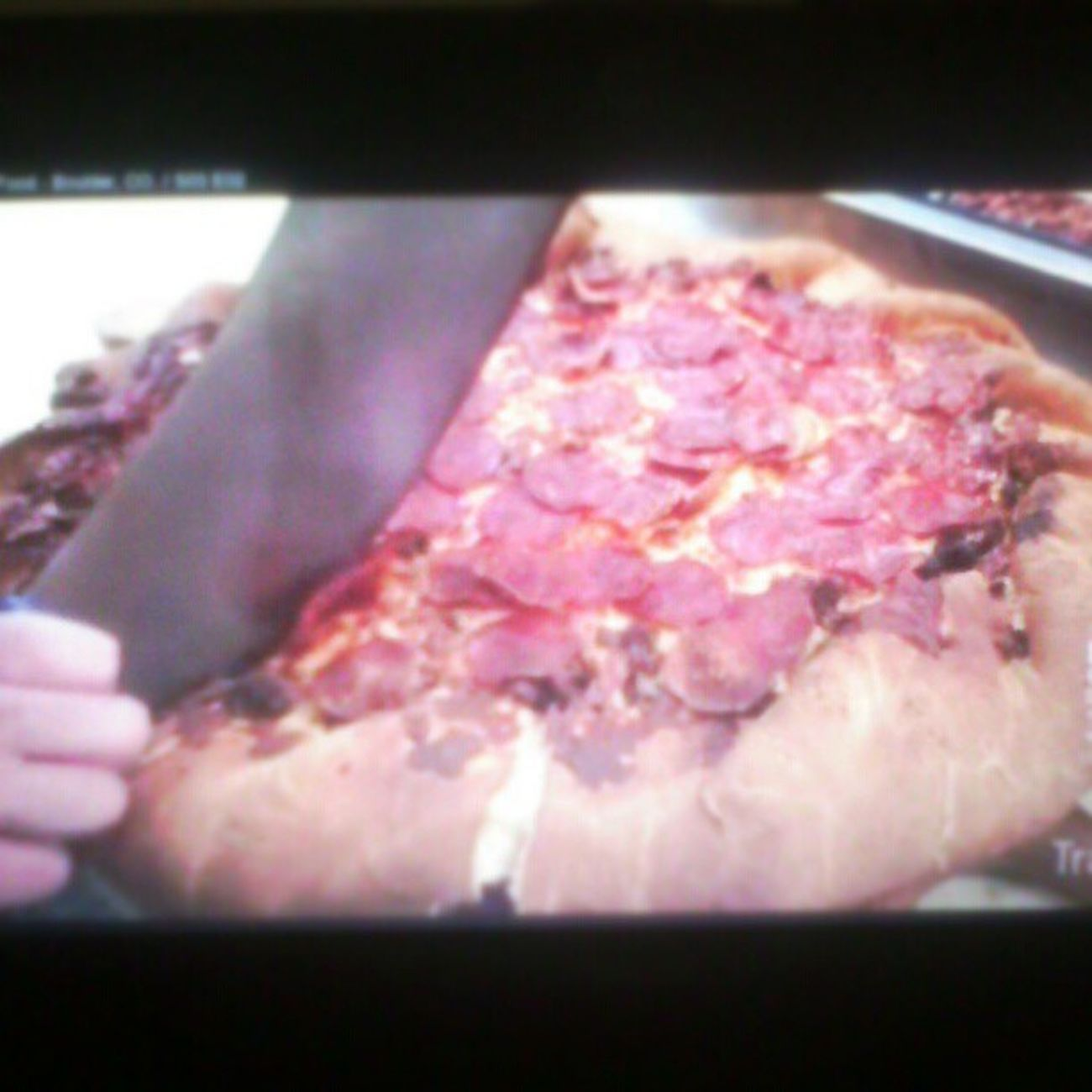 Grand Sicilian: 4 inches thick, 14 lbs. ManVFood S03 Boulder Pizza