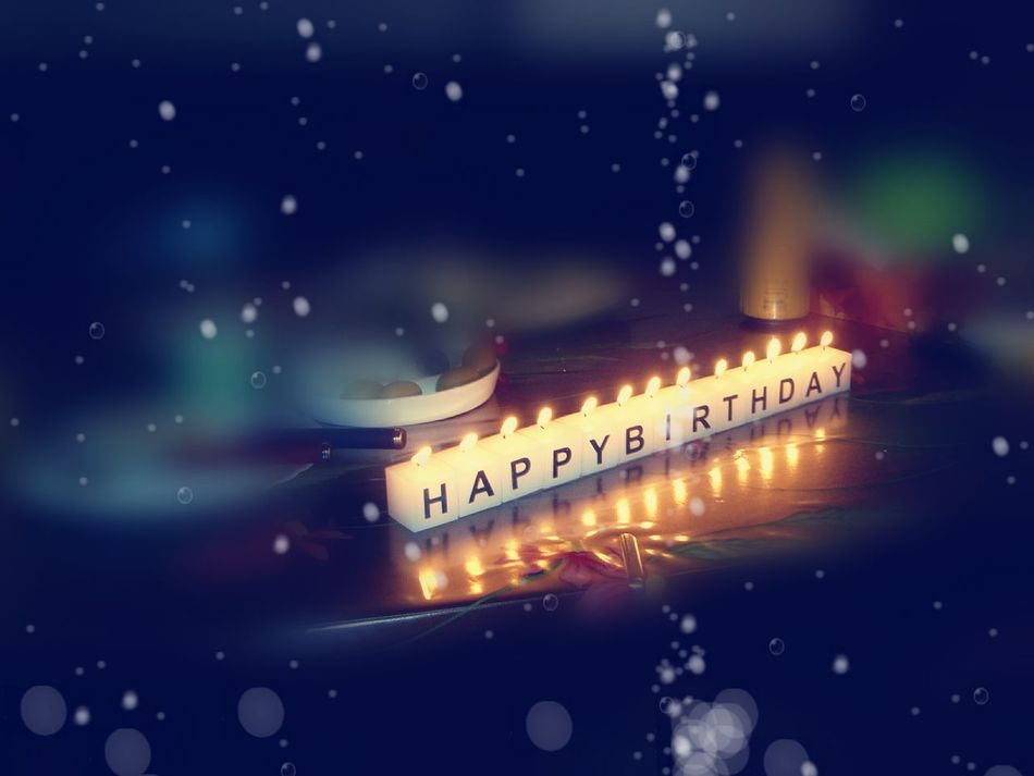 Happy Birthday 🌹 Happy Birthday Candles Candle Light Candle Lighting  Celebration Simple & Cute