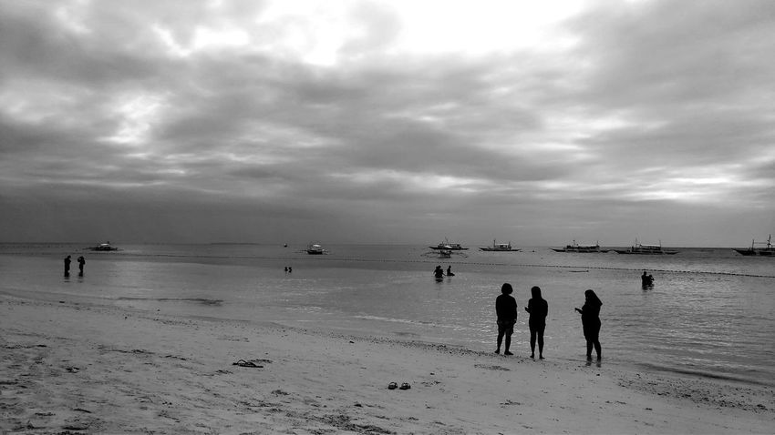 Bohol Philippines Beach Sea Nature Outdoors Cloud - Sky Scenics Day Beauty In Nature Real People People Blackandwhite