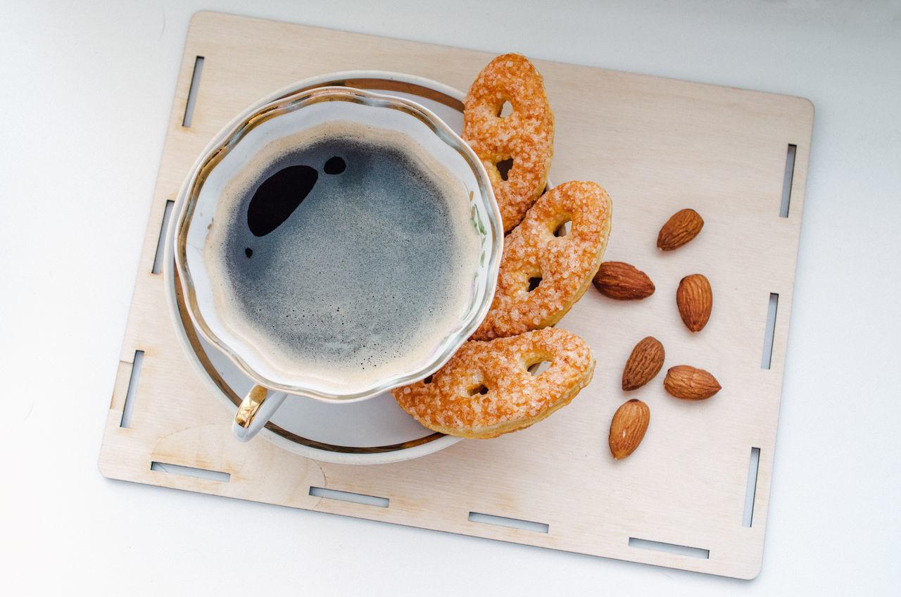 Beautiful stock photos of cookies, Almond, Close-Up, Coffee - Drink, Coffee Break