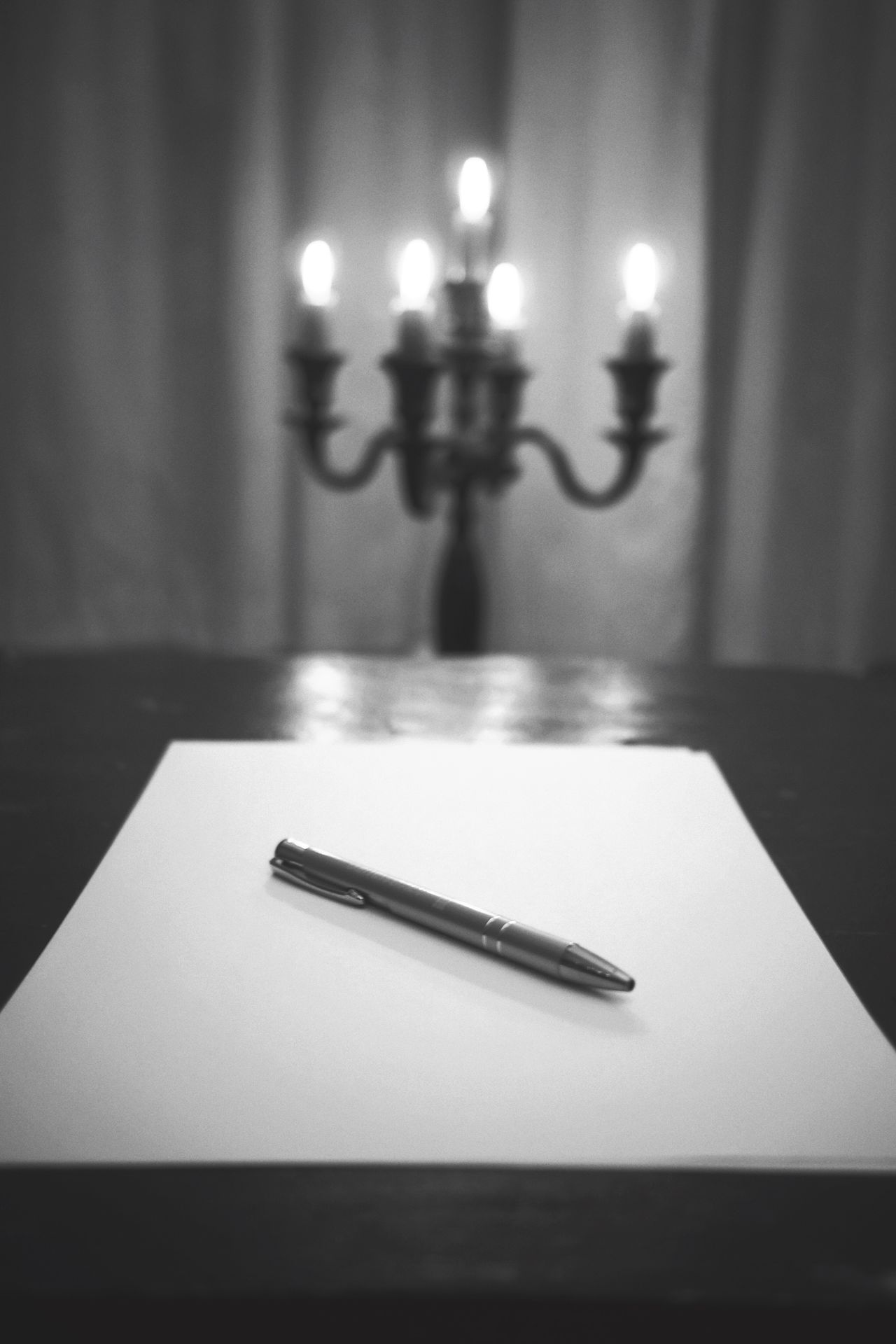 Indoors  Table Focus On Foreground Paper No People Close-up Illuminated Burning Day Writing Office Communication Night Thoughts Indoors  Candles