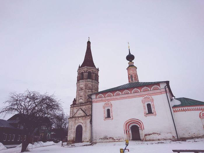 Snow Winter Travel Travel Destinations Place Of Worship Cold Temperature Religion Tower Sky No People Outdoors Christmas Architecture Tree Snowing Christmas Tree Day Old Church Suzdal