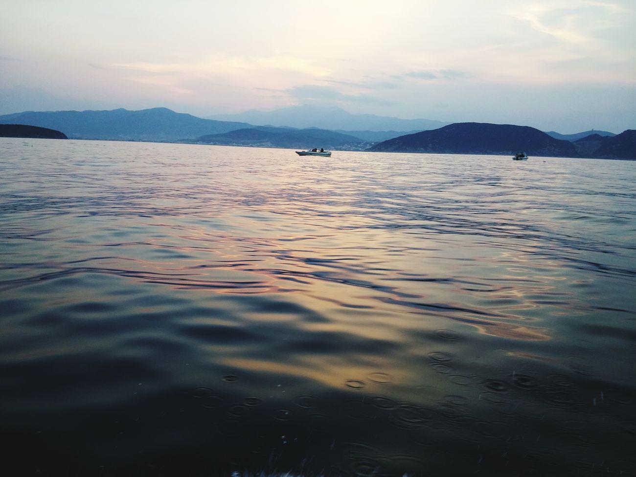 @ Kavala In Greece  Kavala OnTheBoat PinkSky! Pinksky Sea And Sky Greece GREECE ♥♥ Forfun
