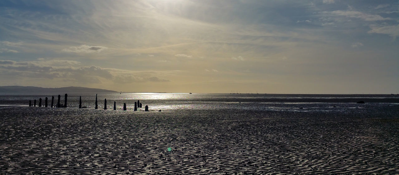 Beach Beauty In Nature Coastline Day Horizon Over Water Landscape Nature Old Jetty Old Wood Outdoors People River Dee  Sand Sand & Sea Scenics Sea Sky Sunset Thurstaston Beach Tranquil Scene Tranquility Wales Water Wirral Wirral Peninsula