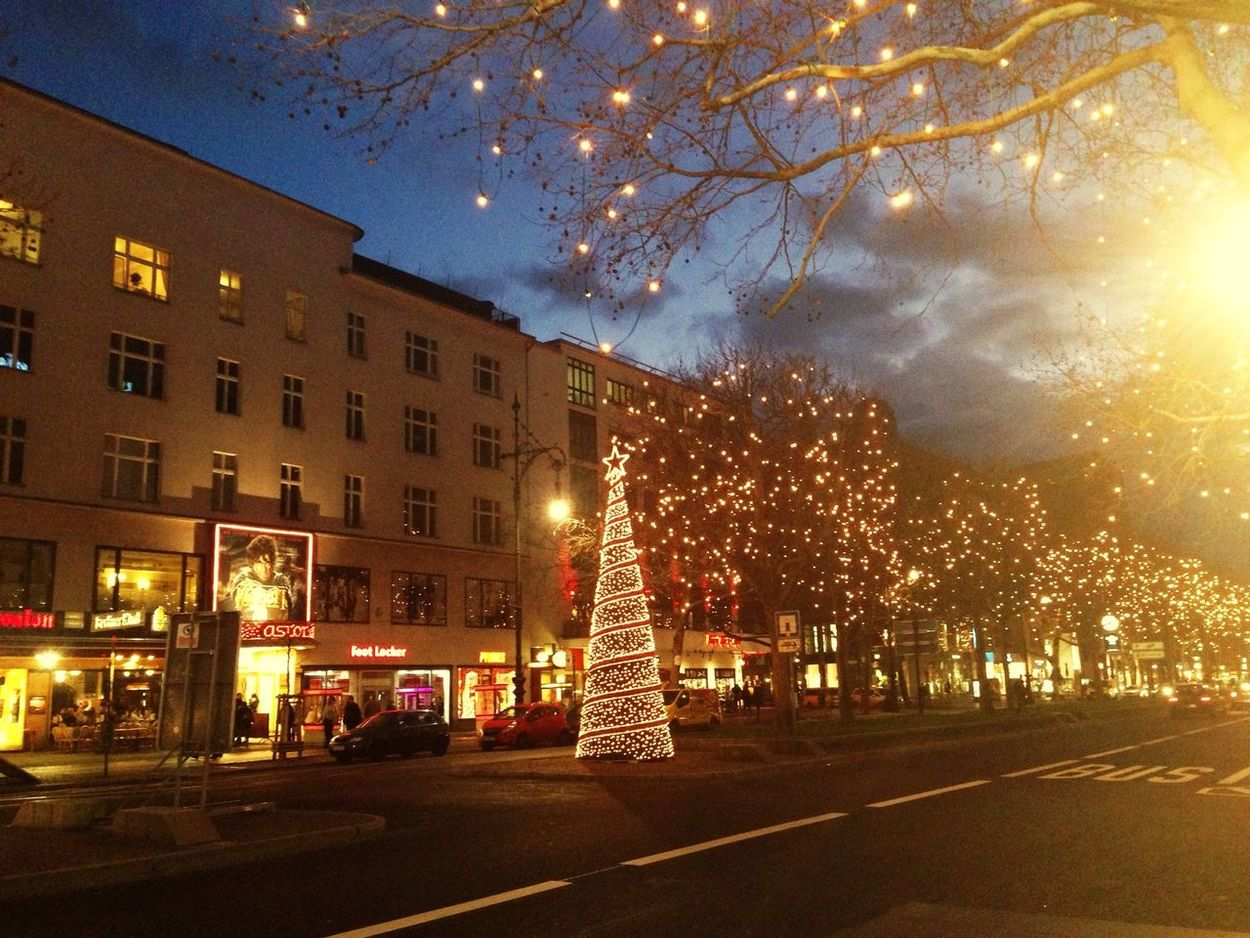 Christmas Decorations Kurfürstendamm ❤️west Berlin Street