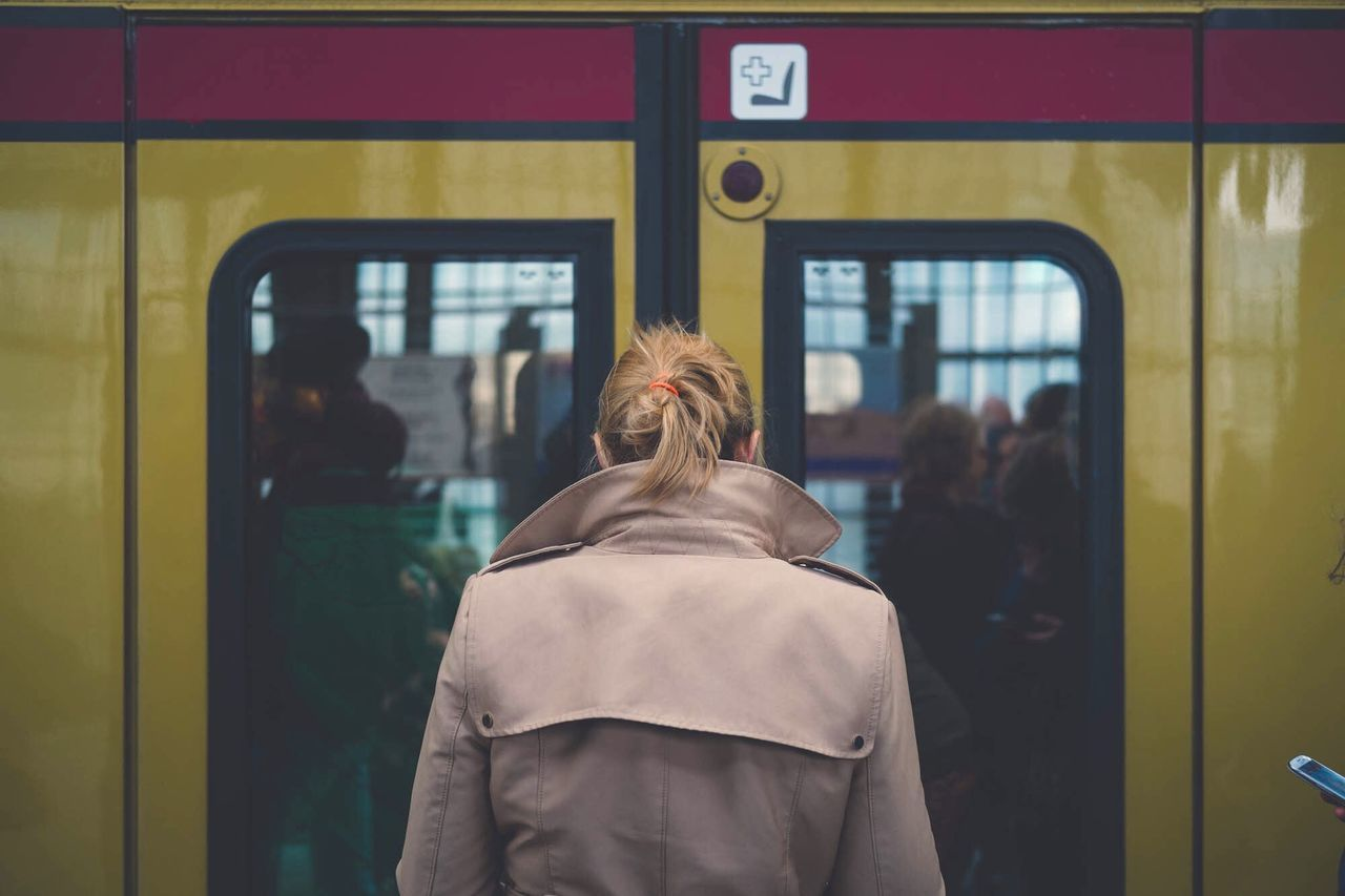 Beautiful stock photos of train,  Adult,  Adults Only,  Blonde Hair,  City Life