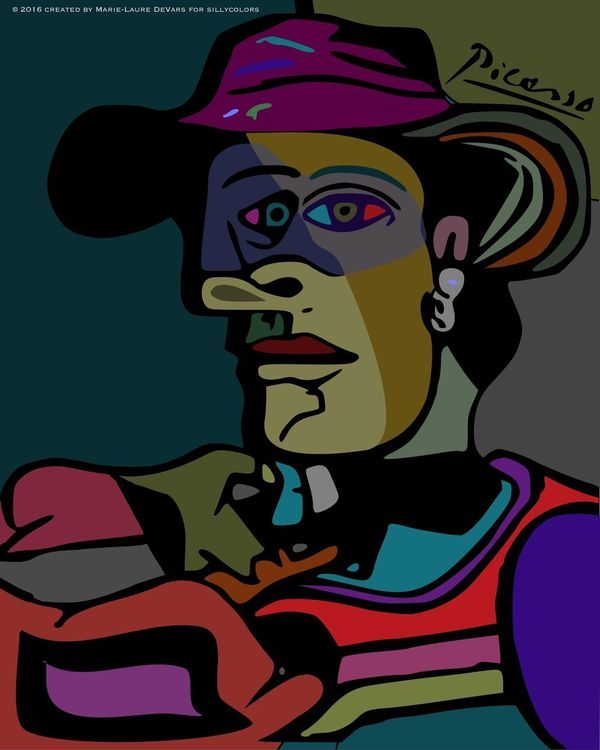 Silly Colors Pablo Picasso Style Picasso Digital Art Digital Painting