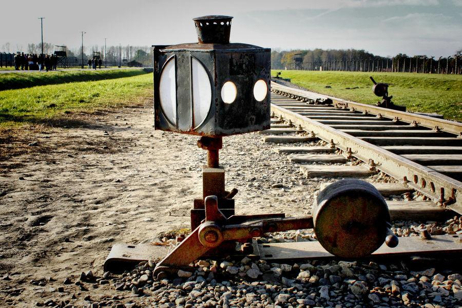 Auschwitz Birkenau Campo De Concentracion Day No People Outdoors Polonia  Train Train Station