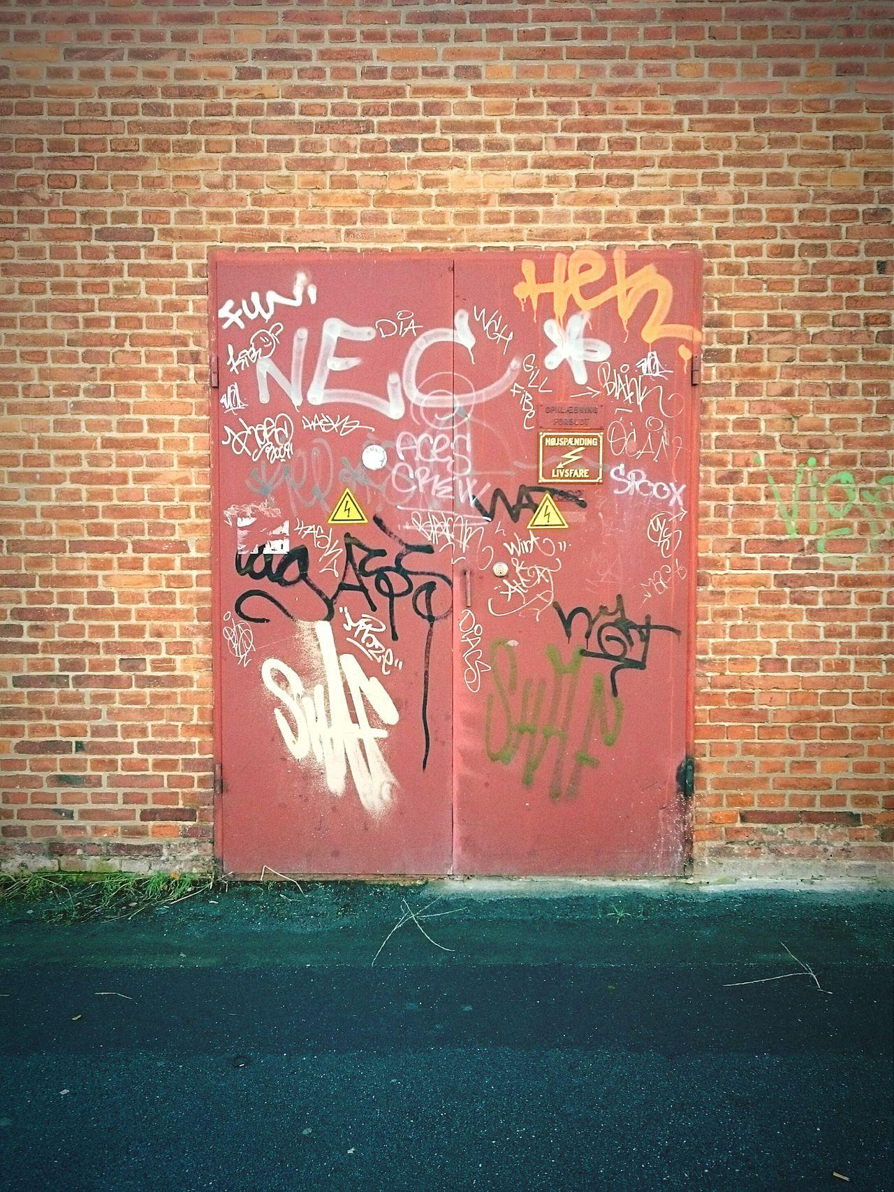 Door Graffiti Urbanphotography Urban Landscape Tags Aerosol Spraypaint Bricks Wall Copenhagen