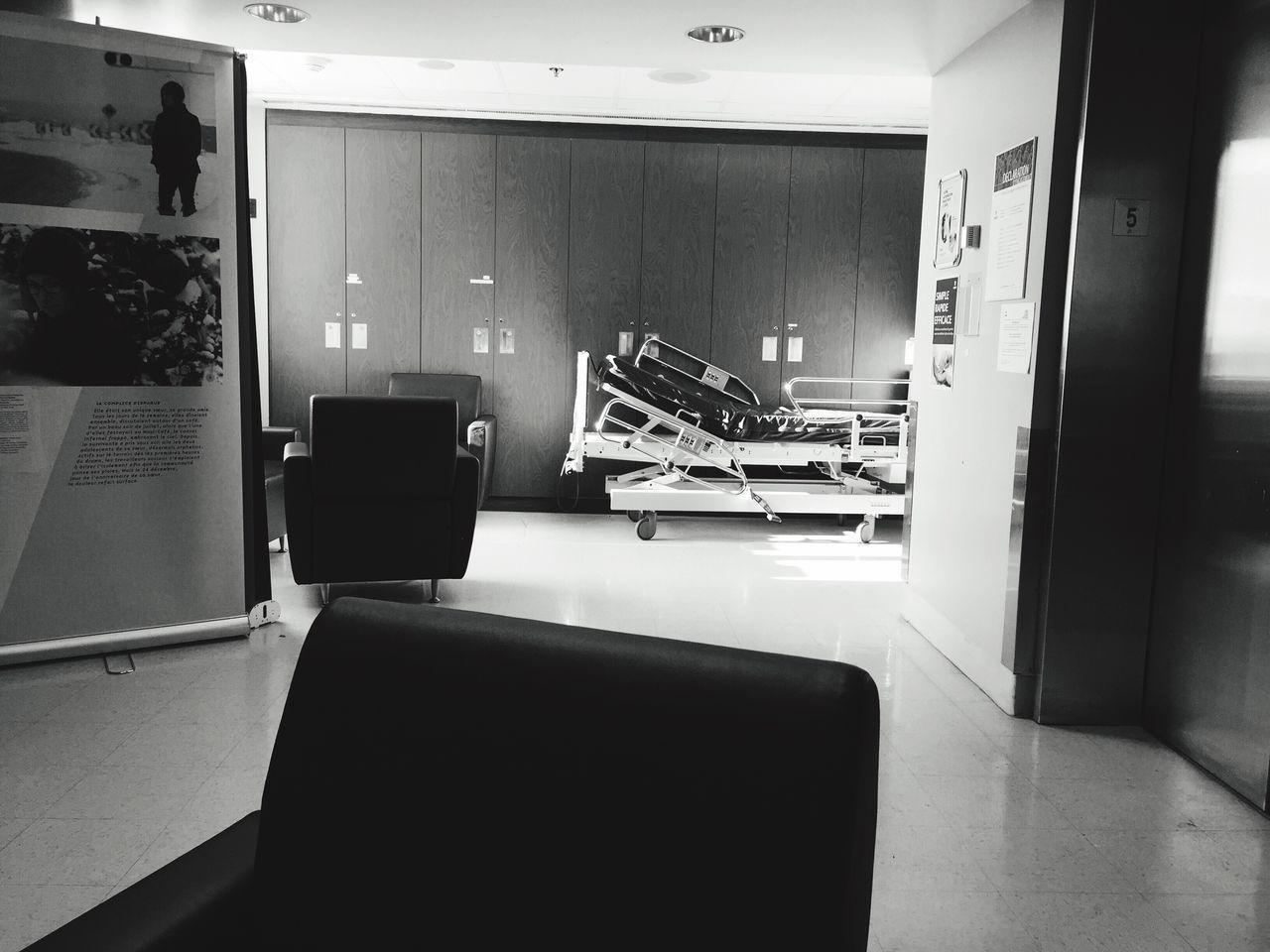 Hospital waiting room. Hospital Waiting Waiting Room Shadows & Lights Blackandwhite Black And White Montréal