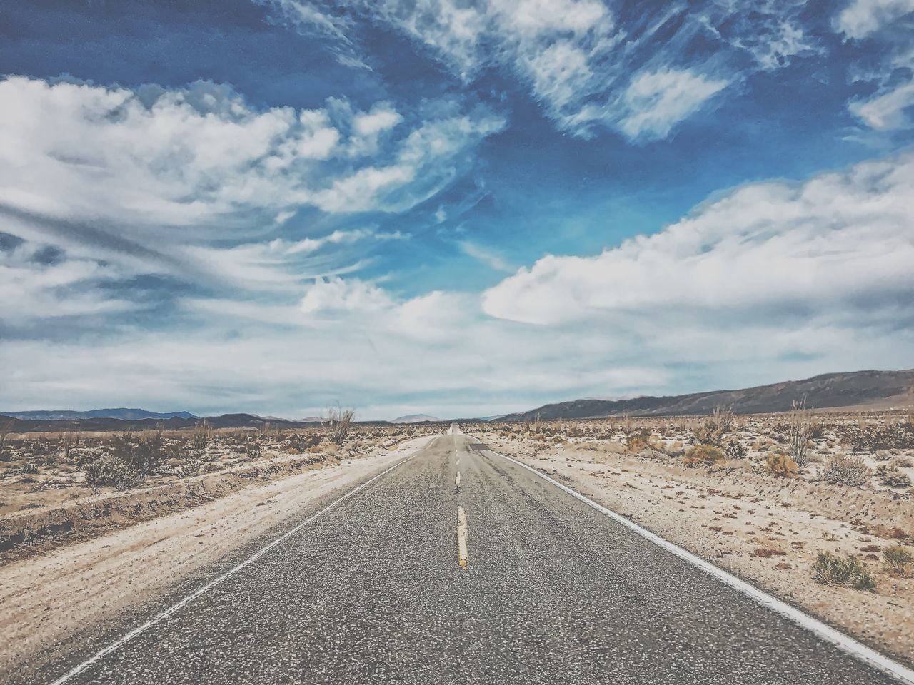 Adventure Awesome California Cloud - Sky Day Desert Desert Driving Exploring Landscape Mountain Nature No People On The Road Outdoors Road Road Trip Sand Scenics Sky The Way Forward Travel