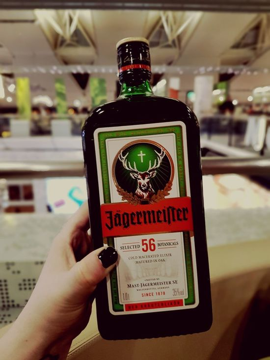 Amsterdam, 27th of March 2017 Human Hand Adult Illuminated Close-up Day People Drink Alcohol Jäger Jägermeister Duty Free Shopping Amsterdam
