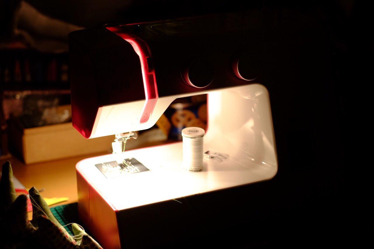 Night sewing Illuminated Sewing Sew Nightphotography Indoors  Night DIY Crafts