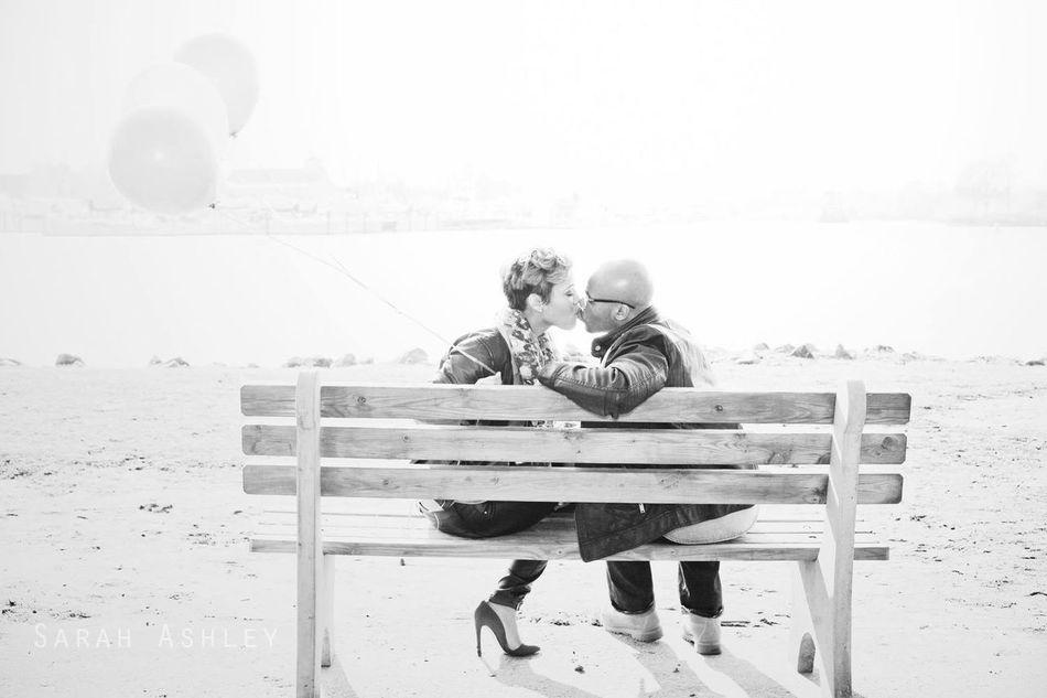 www.sarahashleyphotos.com Engagement Engaged Love Black And White Portrait