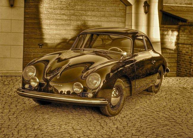 Old Cars Cars Car Porsche PORSCHE 356 PORSCHE 356 A Sepia