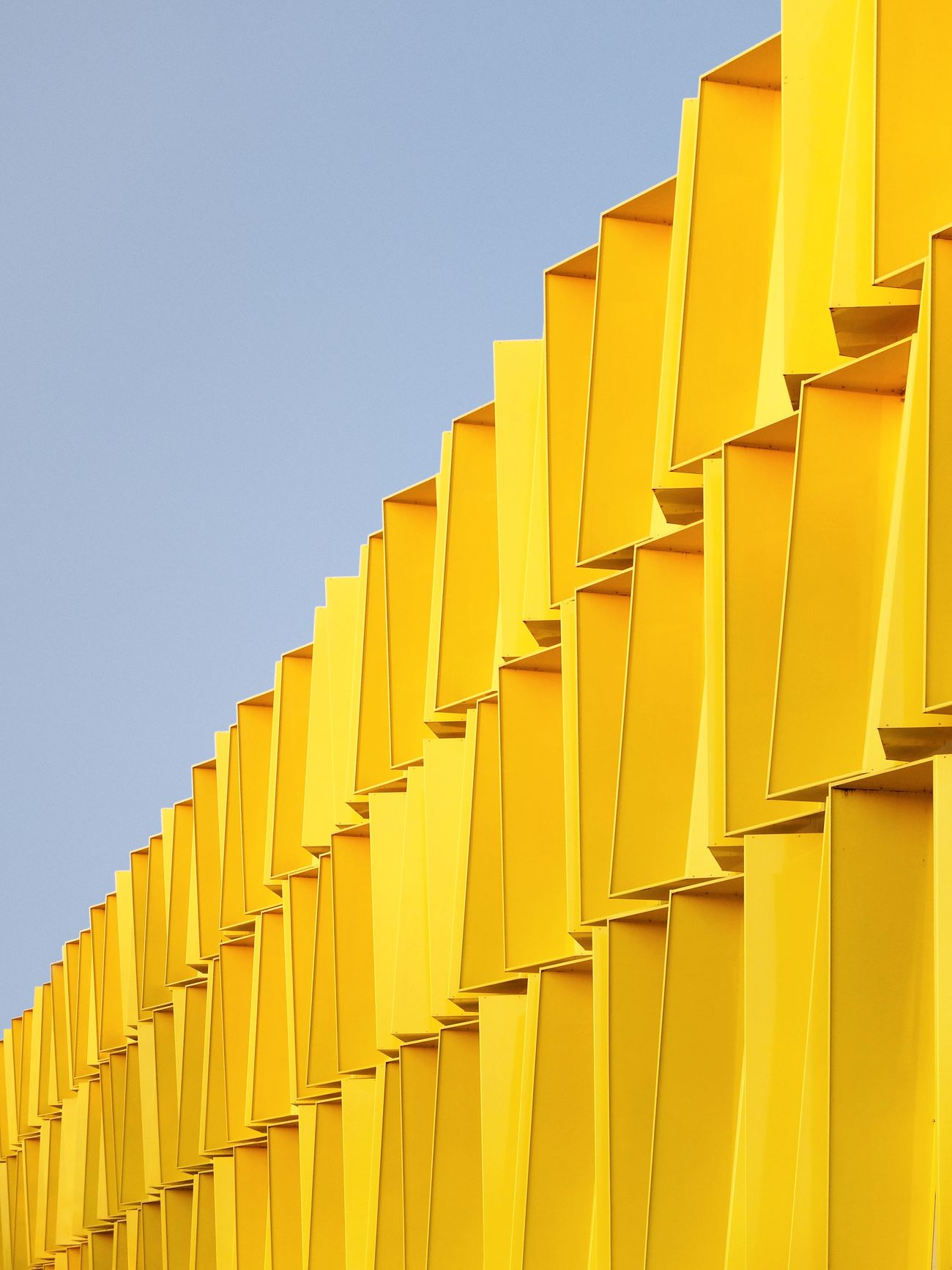 Yellow Low Angle View Built Structure Building Exterior Architecture EyeEmBestPics EyeEm Best Edits EyeEm Best Shots TheWeekOnEyeEM FujiFilm X20 Textures And Surfaces Sunlight And Shadow Minimalism Minimalist Minimal Minimalobsession Architecture Architectural Feature Architecture_collection Architectural Detail Façade