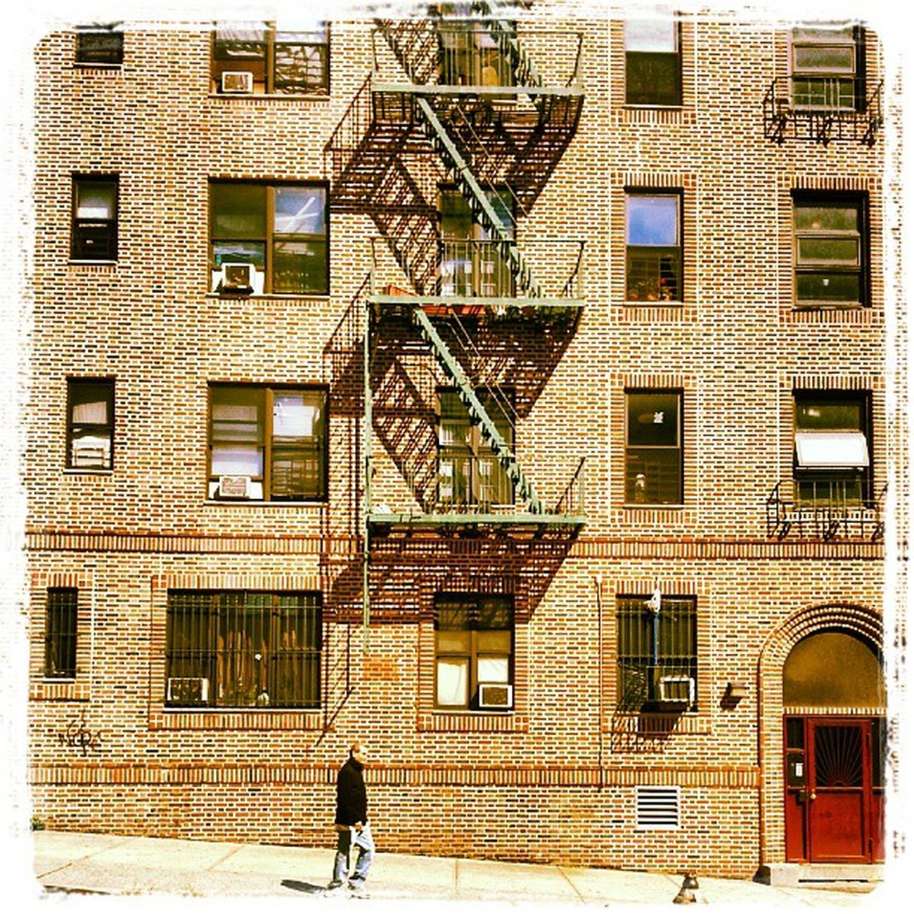 Neighborhood stroll. On my way to MoMA. Kelvin Lux Contrast NYC NewYork NewYorkCity Manhattan WashingtonHeights fireescape