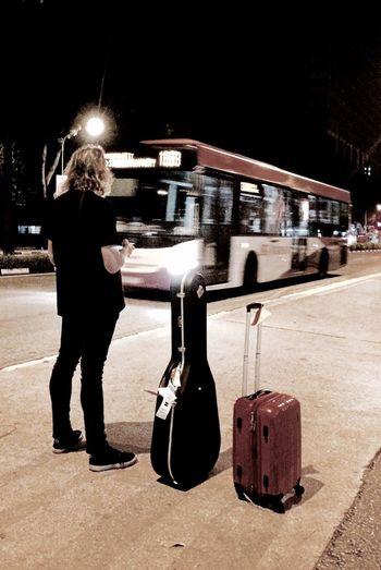 Musician Waiting for the Bus Jalan Kayu Singapore