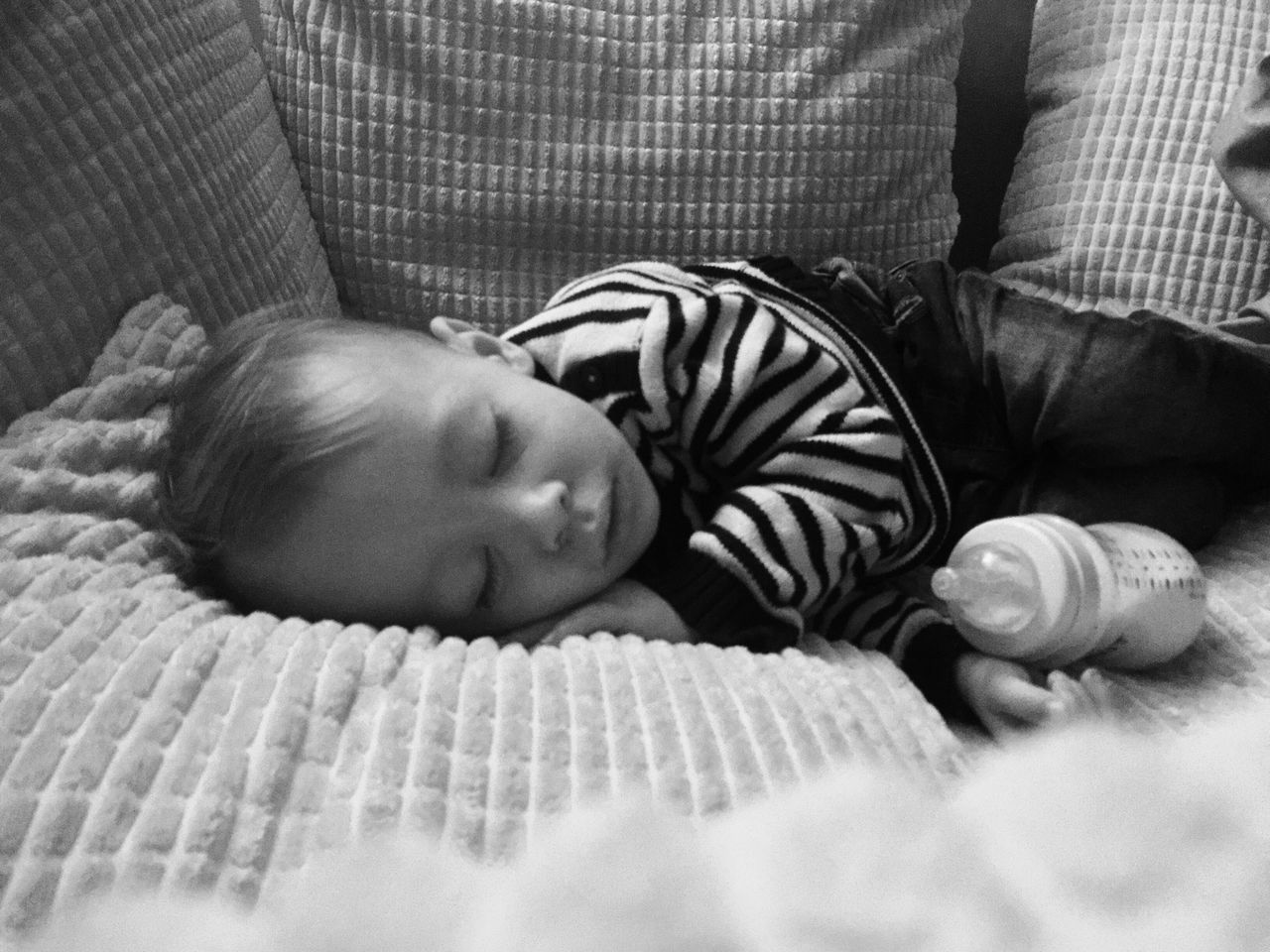 Baby Real People One Person Lying Down Childhood Babyhood Relaxation Indoors  Lifestyles Sleeping Baby Leisure Activity Close-up Day Mammal People