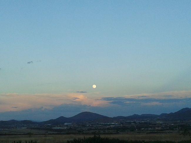 Beautiful Sunset Full Moon Sky Porn