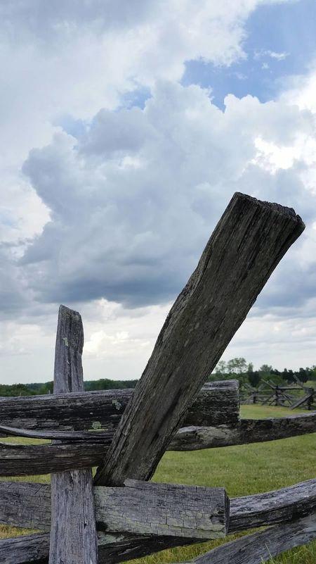 Civil War Fence Fences Storm Clouds Clouds And Sky Stormy Weather Manassas National Battlefield Park Manassasbattlefield Stormbrewing