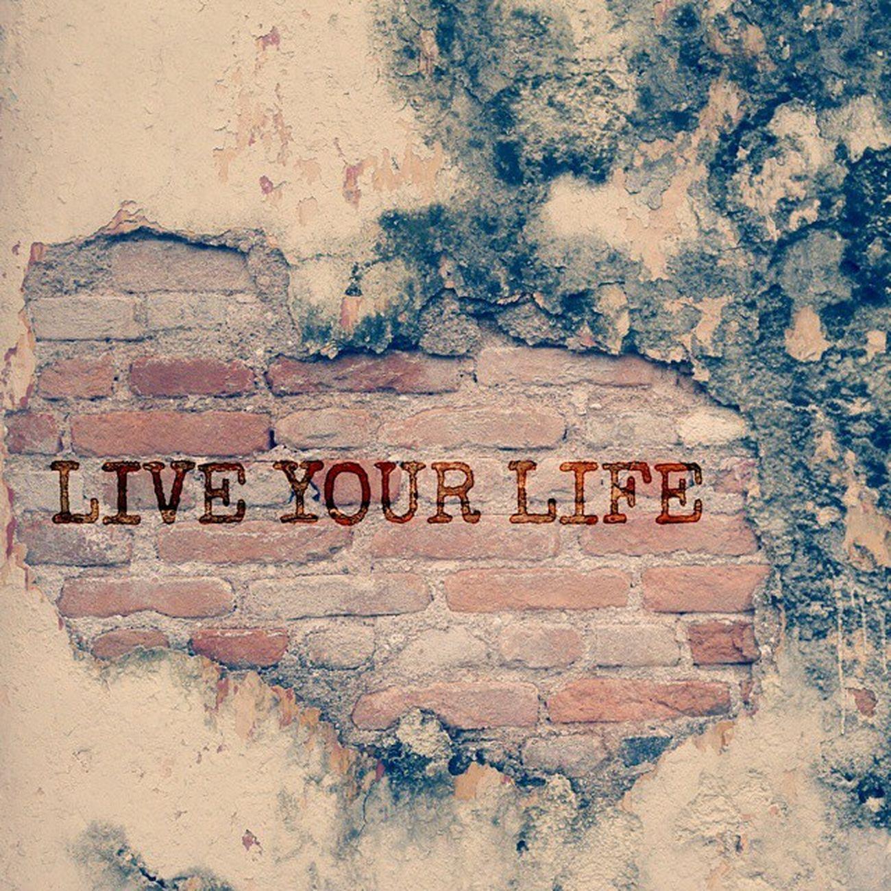 Hidup Hanya Sekali... so kita Enjoy Wall Instaakusukahatiaku Aak
