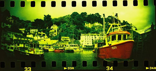 35mm 35mm Film Cornwall Cornwall Uk Dock Fish Fishing Fishing Boat Panorama Portrait Sea Seaside Ship Sprocket Sprocket Rocket Panorama Xpro Landscapes With WhiteWall