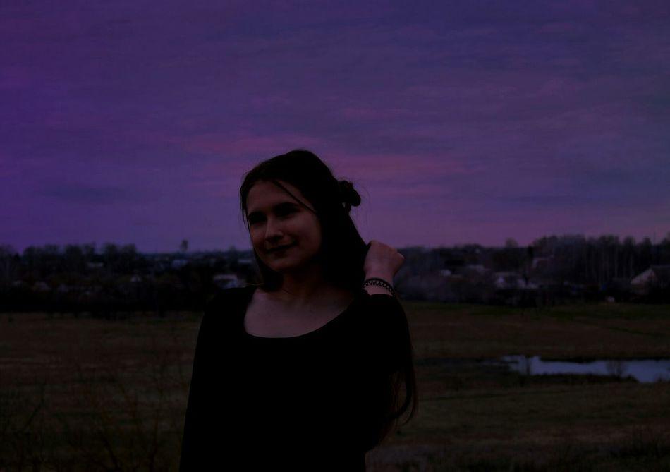 закат🌇 Закат небо небо⛅️ фиолетовый природа🍃 First Eyeem Photo