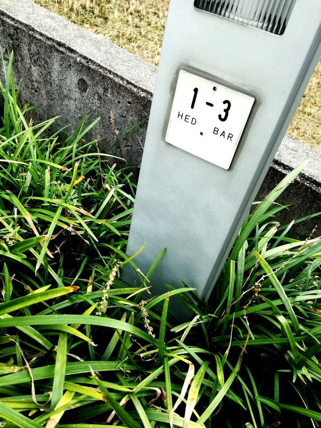 Grass Close-up No People Day Green Color Sign Signboard Street