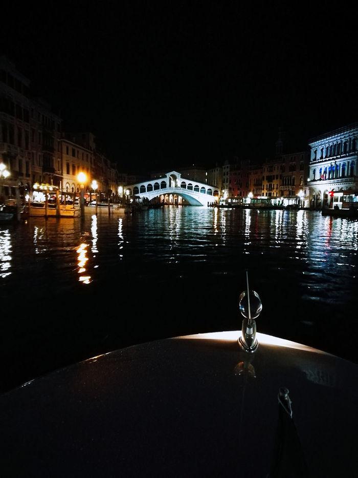 Water Night City Tranquility Illuminated Waterfront Sea View Venice Life Italy❤️ Lifeisbeautiful Work Time Towardsmorning Reflection Season  Venicelife Italiandoitbetter Mycity Loveuvenice Rialto Bridge Grancanal