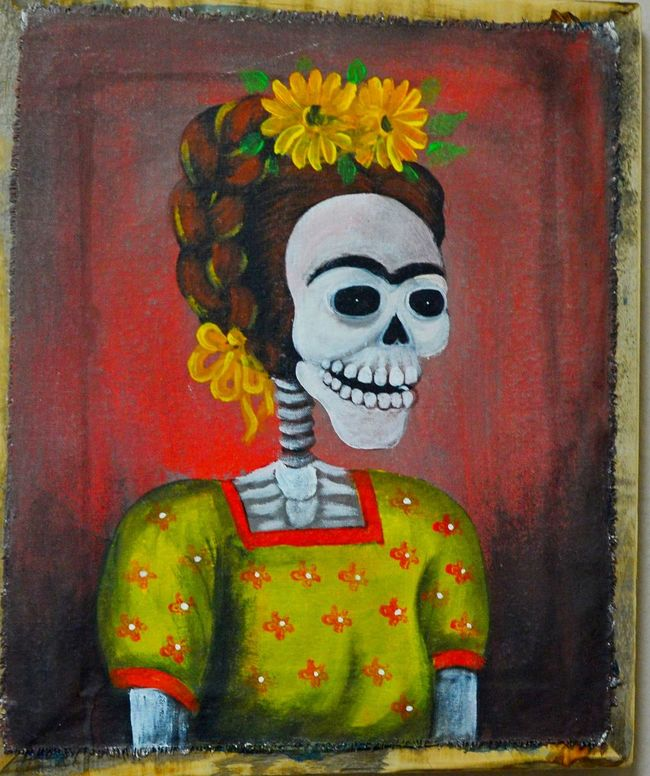 Keep smiling Art Close-up Color Creativity Gohst Imagination Picture Skele Yellow