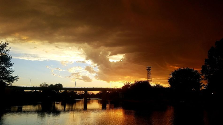 Sunset with a storm rolling in Sunset Water Dramatic Sky Nature Sky Reflection Outdoors No People Beauty In Nature Cloud - Sky Storm Storm Clouds Storm Approaching Stormy Sunset Texas Texas Skies Texas Storm San Angelo San Angelo Texas