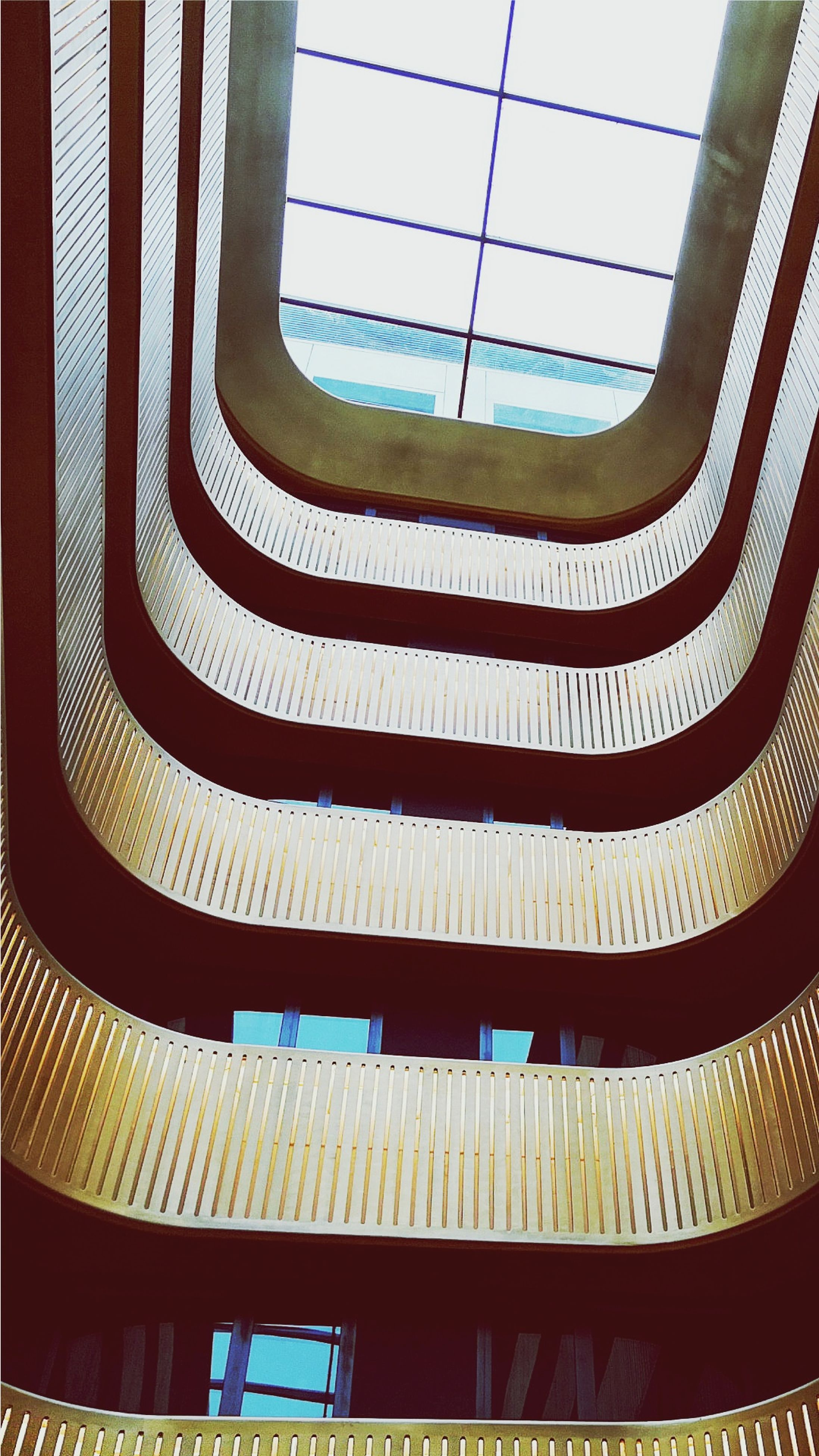 pattern, window, low angle view, indoors, no people, day, built structure, architecture, backgrounds, sky