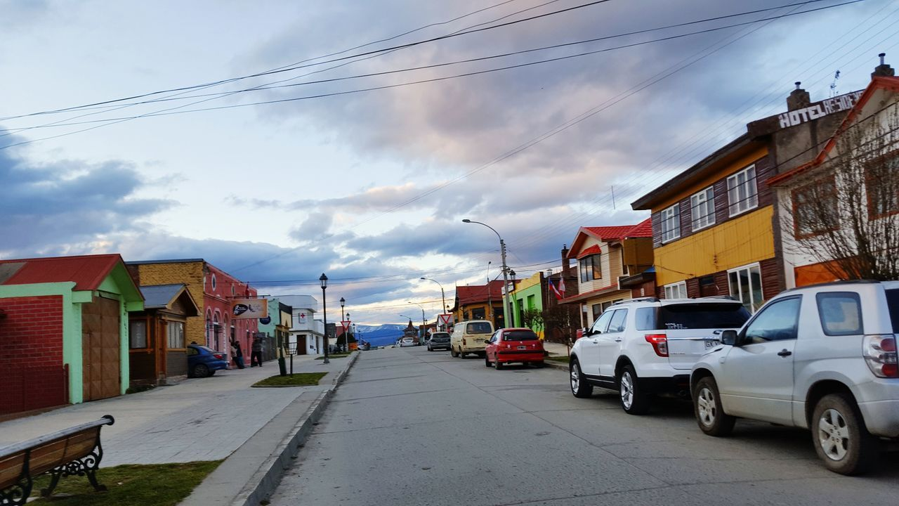 Architecture Land Vehicle Street Cloud - Sky The Way Forward City Life Patagonia Chilena Puerto Natales Streetphotography Street Photography New Talents Travel Photography