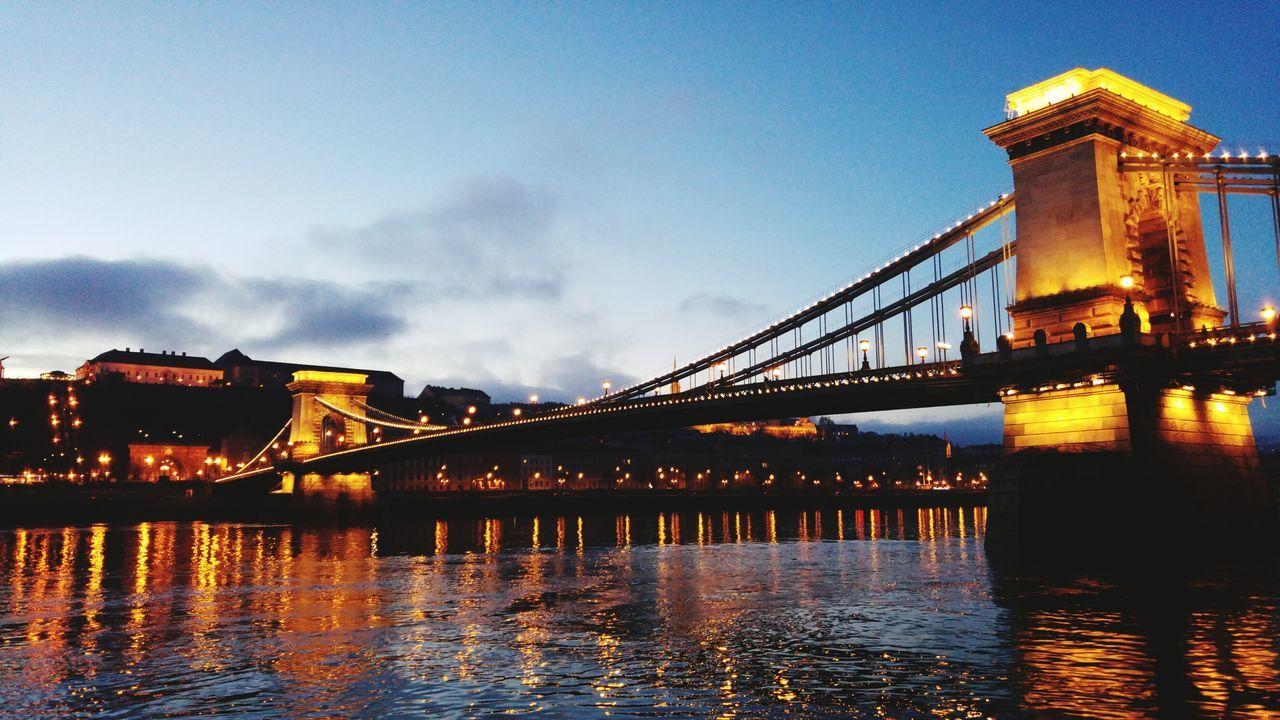 Chain Bridge Budapest Hungary Danube River