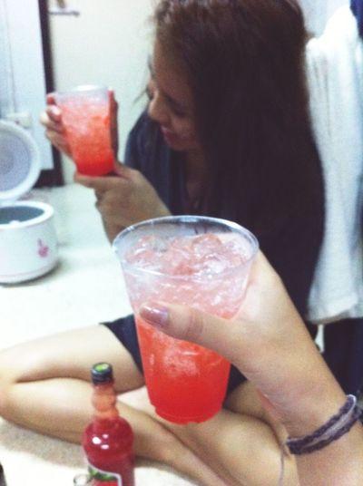We love strawburry soda 🍹 Enjoying Life Relaxing