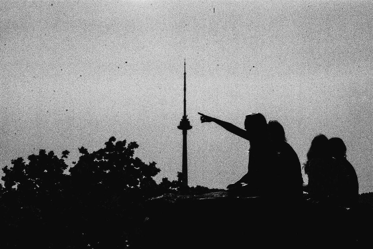 TV Tower Finger Silhouettes Open Edit Sitting Enjoying Life Blackandwhite Capture The Moment What We Revolt Against Telling Stories Differently