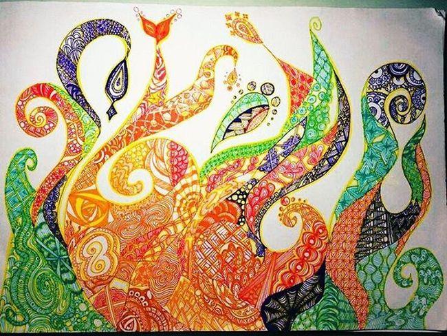 I love doodling💟💟Danielarc99 Doodles Lineart Artworksfever Art Arts_gallery Artsanity Arts_secret Art_conquest