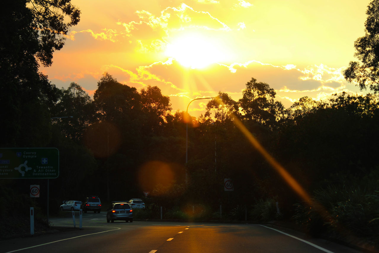 Austraila Car City Day Nature No People Noosa Outdoors Road Sky Street Sunbeam Sunset Transportation Tree