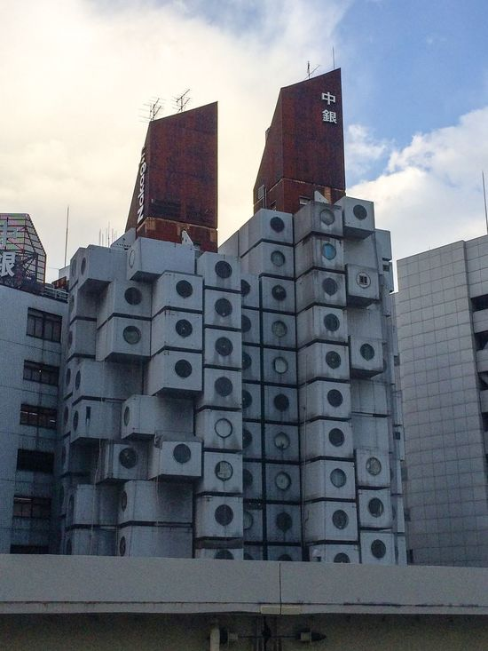 Architecture Housing Complex 黒川紀章 中銀カプセルタワービル 近代建築 建築 Iphonephotography at Ginza Tokyo,Japan