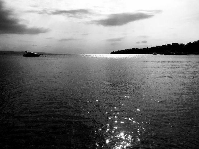 Monochrome Blackandwhite Beachphotography Beach Reflection Sea And Sky Bw Relaxing Taking Photos