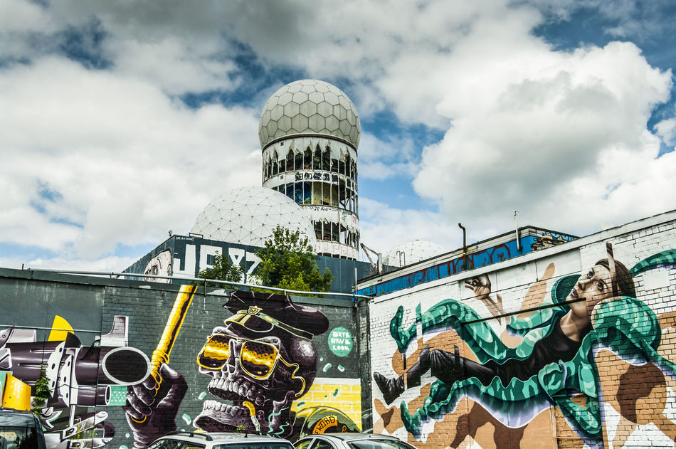 Abhörstation Architecture Berlin Building Exterior Built Structure City Communications Tower Germany Monitoring Station Spy Teufelsberg Tower