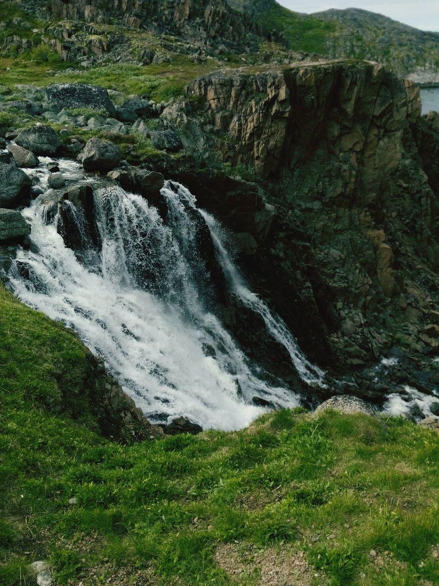 Водопад в Териберке