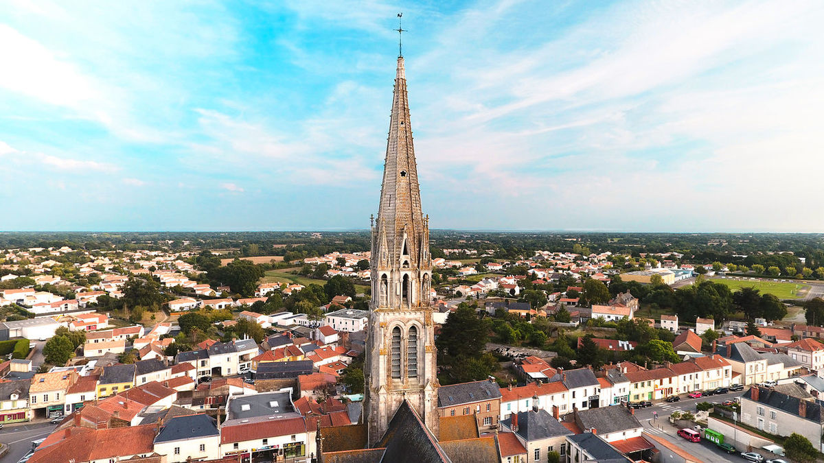 Aerial Photography Aerial Shot Aerial View Architectural Feature Blue Sky Cathedral Church City City City Life Cloud - Sky Eglise France High Angle View Monument Sainte Pazanne Sky Tourism Town Village Ville églises