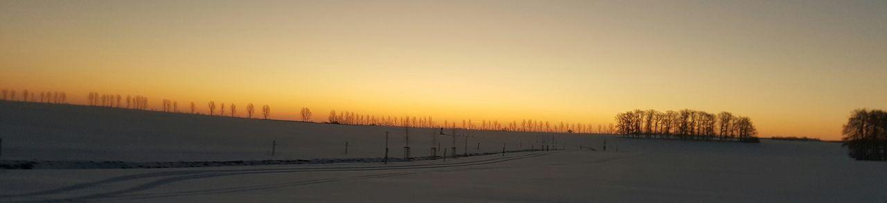 Cold Winter Sunrise Sky Winter Landscape No People Outdoors Landscape First Eyeem Photo