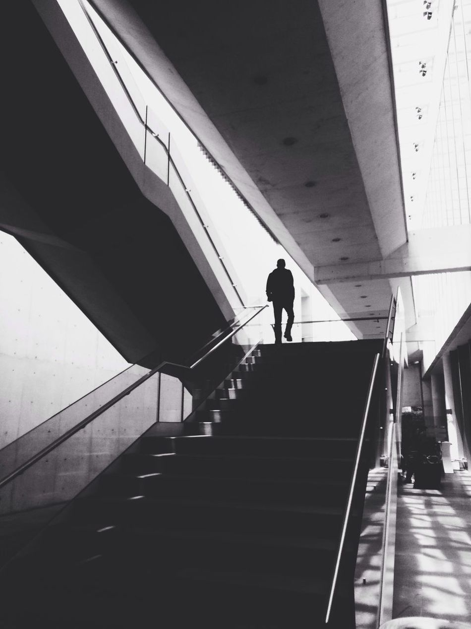 Stairs at MUAC IPhoneography Blackandwhite Wearegrryo Mobiography Vscocam Architecture Geometric Shapes Mexico