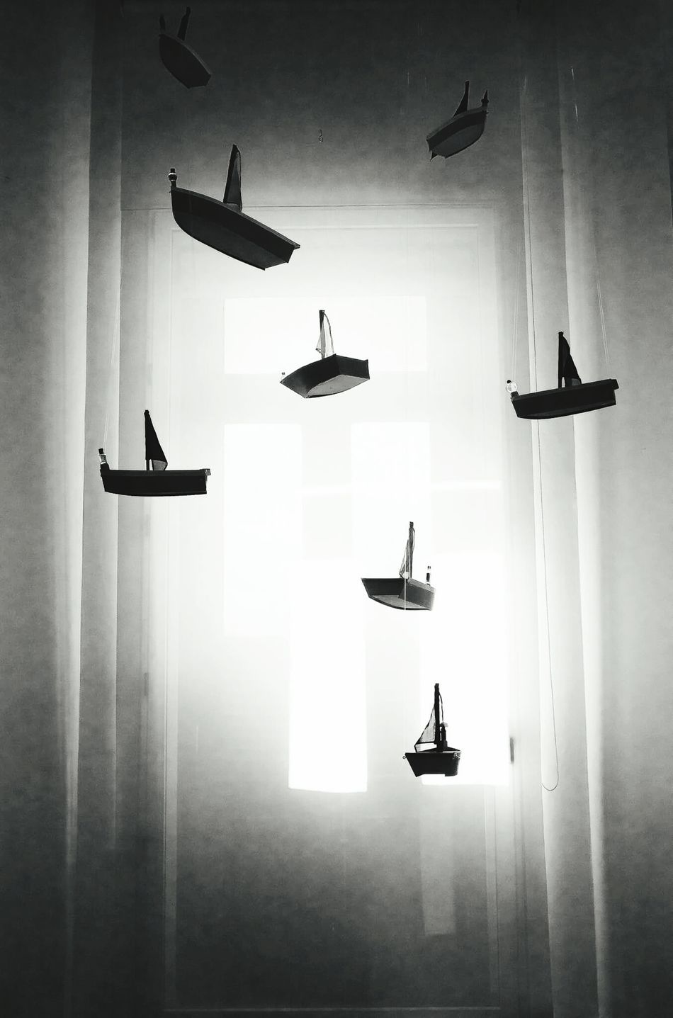 Silhouette Indoors  Surrealism Blck And White