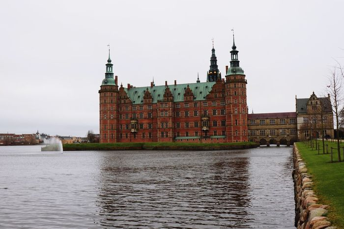 Frederiksborg palace in Denmark. Astonishing! Autumn Grey No Filter Castle Lake Water Fortress Denmark Hillerød Autumn Cloudy Scandinavia Garden Royalty Palace Landscape Art Canon Cold Green House Rain Business Finance And Industry Cityscape Politics And Government